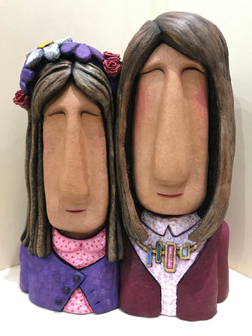 Like Mother, Like Daughter Bighead Sculpture by Jenny Mackenzie *NEW*