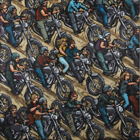 Bikers Biking by James Milroy