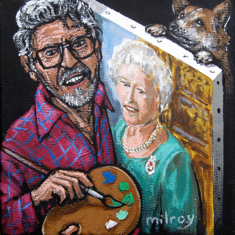 Rolf Painting Liz Original by James Milroy *SOLD*
