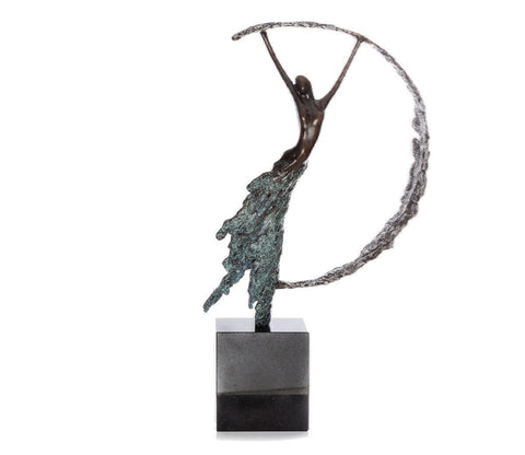Moonlight Bronze Sculpture by Jennine Parker