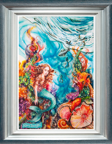 Little Mermaid by Kerry Darlington *RARE*-Limited Edition Print-The Acorn Gallery-Kerry-Darlington-artist-The Acorn Gallery