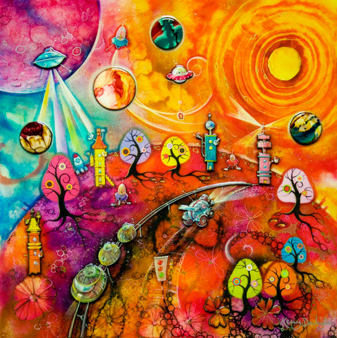 Lollipop Galaxy by Kerry Darlington *RARE*-Limited Edition Print-The Acorn Gallery-Kerry-Darlington-artist-The Acorn Gallery