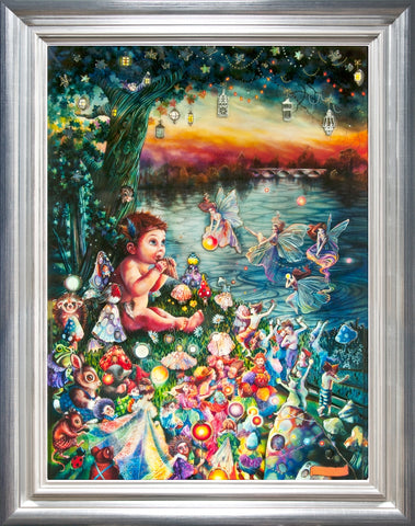 Peter Pan In Kensington Gardens by Kerry Darlington *RARE*-Limited Edition Print-The Acorn Gallery-Kerry-Darlington-artist-The Acorn Gallery