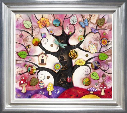 Tree Of Charms - Pink by Kerry Darlington *RARE*-Limited Edition Print-The Acorn Gallery-Kerry-Darlington-artist-The Acorn Gallery
