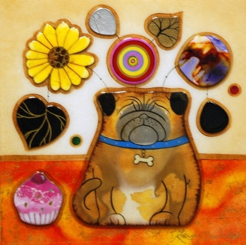 Pug Pot Original by Kerry Darlington *SOLD*