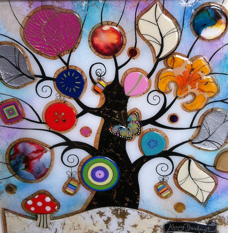Tree Of Harmony Toadstool Original by Kerry Darlington *SOLD*-Original Art-The Acorn Gallery-Kerry-Darlington-artist-The Acorn Gallery