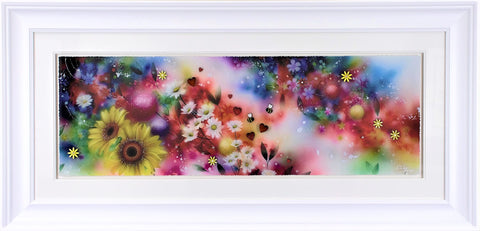 Blossom And Bee Standard by Kealey Farmer-Limited Edition Print-The Acorn Gallery-Kealey-Farmer-artist-The Acorn Gallery