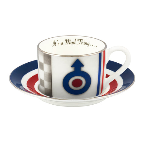Its A Mod Thing Cup and Saucer by Kealey Farmer Ceramics