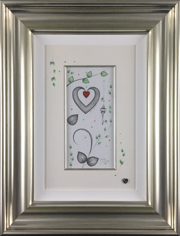 Key To My Heart Original Sketch by Kealey Farmer-Original Art-The Acorn Gallery-Kealey-Farmer-artist-The Acorn Gallery