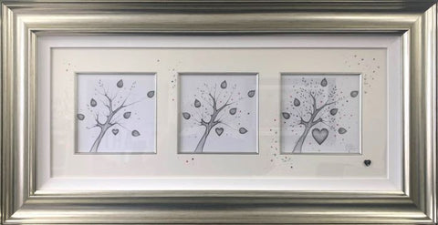 Love Blossoms Original Sketch by Kealey Farmer-Original Art-The Acorn Gallery-Kealey-Farmer-artist-The Acorn Gallery