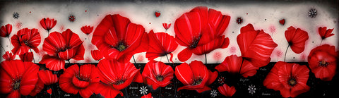 Never Forget (Poppies) by Kealey Farmer