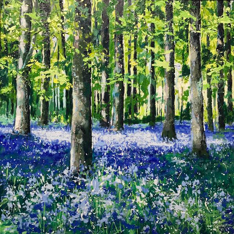 Bluebell Woods Original by Karen Welsh *SALE*