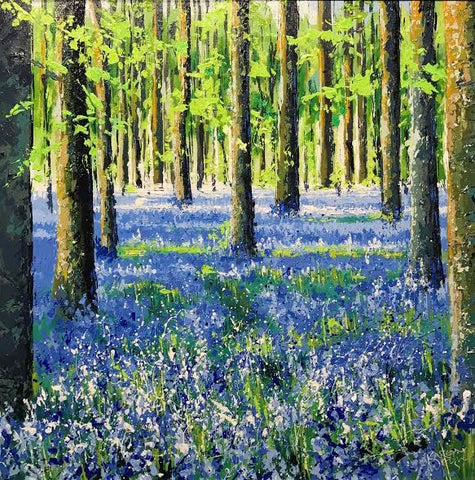 Sunshine On Bluebells Original by Karen Welsh *SOLD*