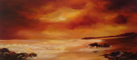 Golden Skies Original by Lillias Blackie *SOLD*