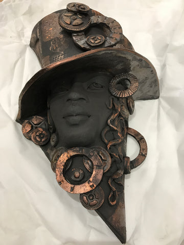 Deryn Original Steampunk Sculpture by Lucinda Brown *SOLD*