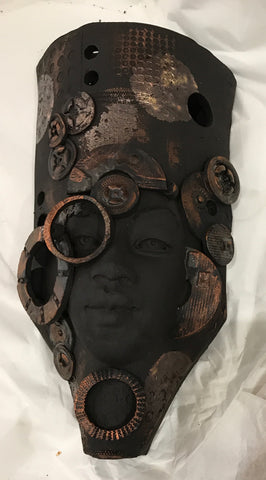 Sonya Original Steampunk Sculpture by Lucinda Brown