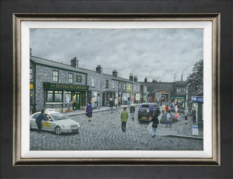 On The Cobbles Canvas by Leigh Lambert *NEW*