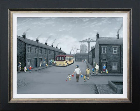 All Aboard For The Seaside Canvas by Leigh Lambert
