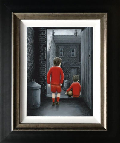 I Hope You've Got Your Scoring Boots On Canvas by Leigh Lambert