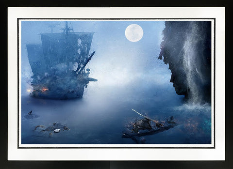 My Spirit Lives On (Pirates Of The Caribbean) by Mark Davies-Limited Edition Print-Mark-Davies-British-artist-The Acorn Gallery