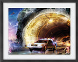 Outahere (Back To The Future) by Mark Davies-Limited Edition Print-Mark-Davies-British-artist-The Acorn Gallery