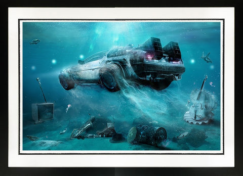 Outaair (Back To The Future) by Mark Davies-Limited Edition Print-Mark-Davies-British-artist-The Acorn Gallery