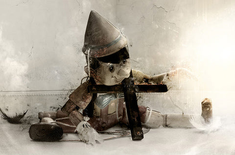 Born To Lie (Pinocchio) by Mark Davies-Limited Edition Print-Mark-Davies-British-artist-The Acorn Gallery