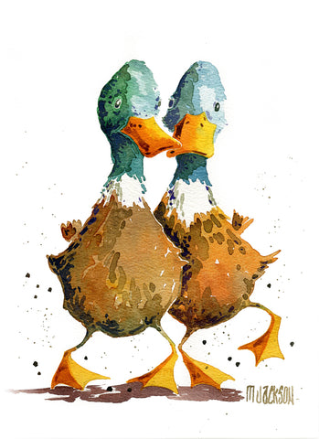 Duck Dance Original by Mike Jackson *SOLD*