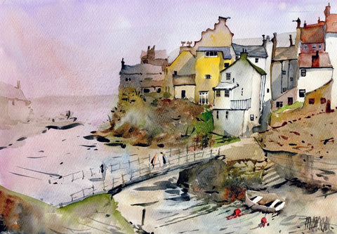 Staithes Original by Mike Jackson