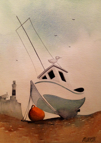 Boat At Rest Original by Mike Jackson *SOLD*