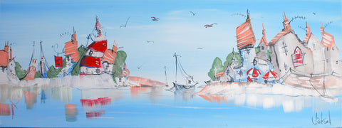 Ramshackle Landings Original by Mike Jackson *SOLD*