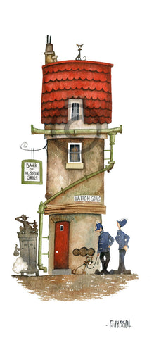The Hatton Garden Heist Original by Mike Jackson *SOLD*