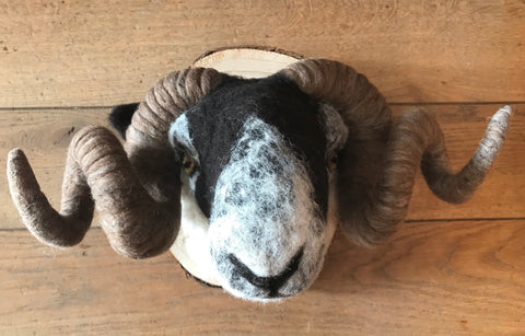 Needlefelt Swaledale Ram Original by Maxine Lowery *SOLD*