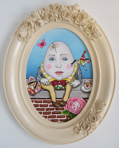 Humpty Dumpty Original by Marie Louise Wrightson *SOLD*