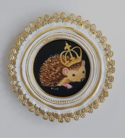 Little Hedgehog Queen Original by Marie Louise Wrightson *SOLD*
