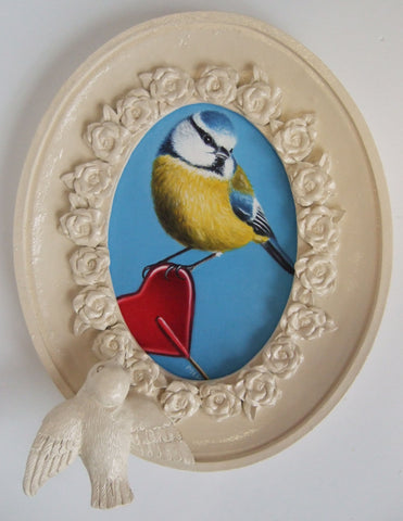 Sweet Little Blue Tit Original by Marie Louise Wrightson *NEW*