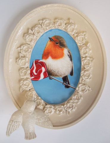 Sweet Little Robin Original by Marie Louise Wrightson *NEW*