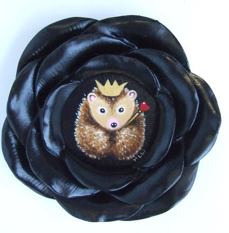 Little Hedgehog King Original by Marie Louise Wrightson *SOLD*