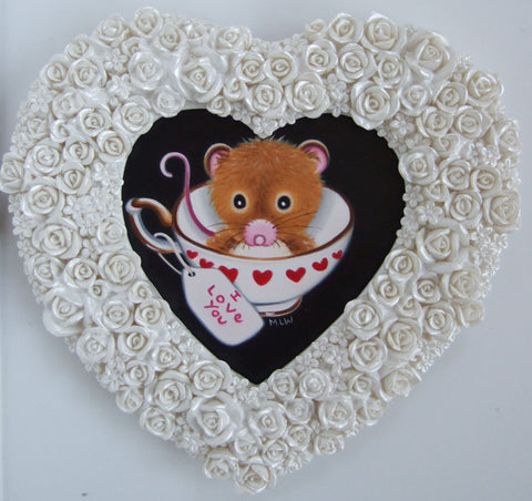 A Cup Full Of Love Original by Marie Louise Wrightson *SOLD*-Original Art-Marie-Louise-Wrightson-The Acorn Gallery