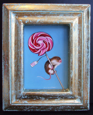 A Little Something For Later Original by Marie Louise Wrightson-Original Art-Marie-Louise-Wrightson-The Acorn Gallery