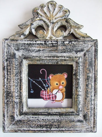 A Wee Tune For My Love Original by Marie Louise Wrightson *SOLD*-Original Art-Marie-Louise-Wrightson-The Acorn Gallery
