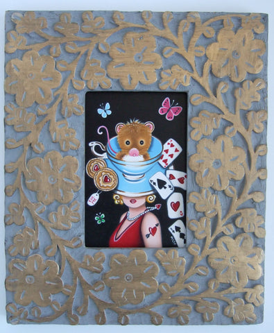 An Afternoon Of Tea And Cards Original by Marie Louise Wrightson *NEW*