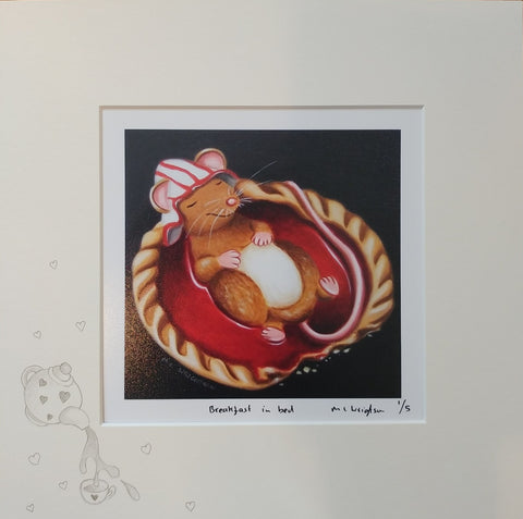 Breakfast In Bed by Marie Louise Wrightson *NEW*-Original Art-Marie-Louise-Wrightson-The Acorn Gallery