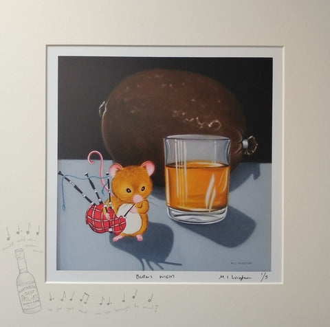 Burns Night by Marie Louise Wrightson *NEW*-Original Art-Marie-Louise-Wrightson-The Acorn Gallery