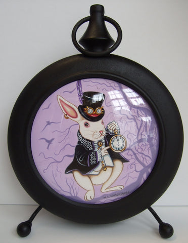 Goth Rabbit In Wonderland Original by Marie Louise Wrightson *NEW*