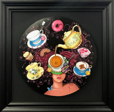 Tea With Julie Original by Marie Louise Wrightson *SOLD*-Original Art-Marie-Louise-Wrightson-The Acorn Gallery