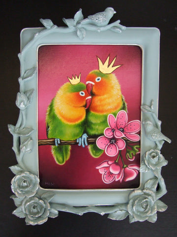 Love Birds Original by Marie Louise Wrightson *SOLD*-Original Art-Marie-Louise-Wrightson-The Acorn Gallery