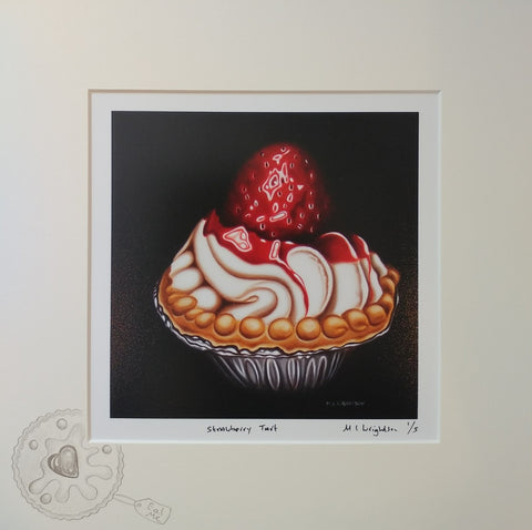 Strawberry Tart by Marie Louise Wrightson *NEW*-Original Art-Marie-Louise-Wrightson-The Acorn Gallery