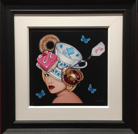 Tea With Alice Original by Marie Louise Wrightson *SOLD*