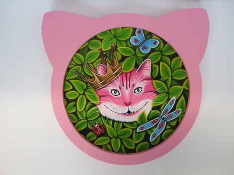 The Cheshire Cat Original by Marie Louise Wrightson *SOLD*-Original Art-Marie-Louise-Wrightson-The Acorn Gallery